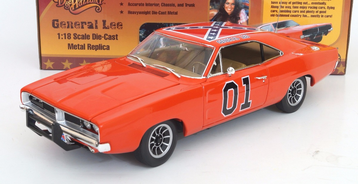dodge charger 1969 general lee autoworld escala 1 18. Black Bedroom Furniture Sets. Home Design Ideas