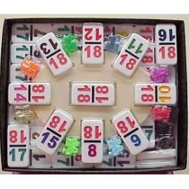 Domino Cubano, Tren Mexicano Doble 18 Numeros