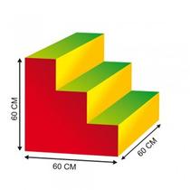 Escalera 60x60x60 Estimulacion Temprana Material Didactico