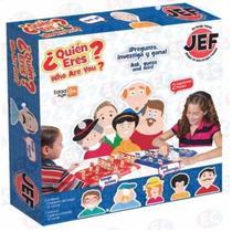 Jef-5546 ¿quien Eres? Juego De Mesa 74 Pzas 2 Jugadores Jef