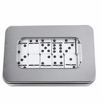 Juego De Dominó Estuche Aluminio / Fichas Plástico
