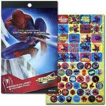 Spiderman 4 Etiqueta Pad Con Más De 270 Pegatinas