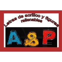 Letras De Acrílico Rellenables 20cm D Alto, Fiestas/candybar