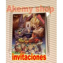 Dragon Ball Z Articulos Para Fiesta Invitaciones 15 Pesos