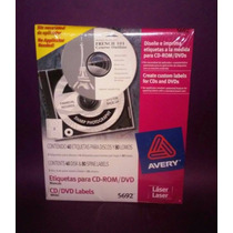 Avery 5692 Cd + Dvd Etiqueta Laser 10 Disponibles