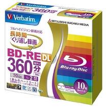 Bluray Doble Capa Regrabable (bd-re Dl) 50 Gb Verbatim 2x