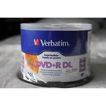 50 Dvd +r Dl Imprimible Verbatim 8.5 Gb