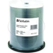 100pk Cd-r Verbatim Blanco Imprimible, 700 Mb Full Face