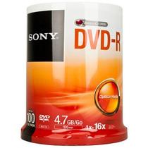 100 Dvd -r Sony 16x 4.7 Imprimibles 100% Originales