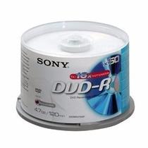 Campana Dvd-r Sony 4.7gb, 120min, 1x-16x, 50 Piezas