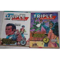 Lote Historieta La Foca Es Triple, Libro Rosa, Libro Negro
