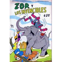 Comic Zor Y Los Invencibles # 72 Tamaño Grande De Editormex
