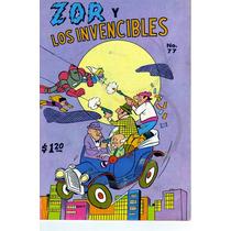 Comic Zor Y Los Invencibles # 77 Tamaño Grande De Editormex