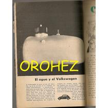 Revista Contenido Anuncio Volkswagen Evita Muñiz 1965