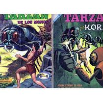Tlax Lote De Comics De Tarzan Tamaño Grande De Novaro