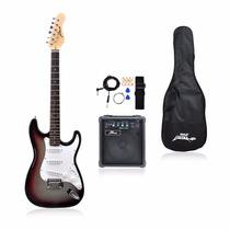 Guitarra Eléctrica Pyle-pro Pegkt15sb Con Kit Incluido Gris