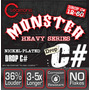 Cleartone Monster Drop C# 12-60 Cuerdas Guitarra Heavy Metal