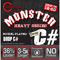 Cleartone Monster Heavy Cuerdas Drop C# 12-60 Vv4 Guitarra