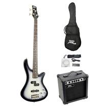 Kit Guitarra Electrica Ylepro Pgekt50 Con Bajo Y Mas Vv4