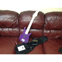 Preciosa Guitarra Eléctrica Infantil Funda Y Acces
