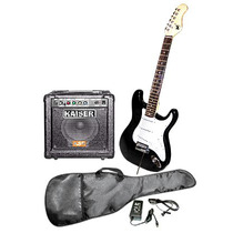 Kit Guitarra Y Amplificador 250 Watts Pmpo Blanco Y Negra
