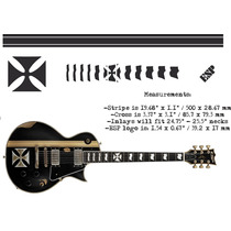Iron Cross James Hetfield Esp Ltd Guitarra Electrica Sticker