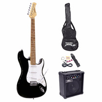 Guitarra Eléctrica Pyle-pro Pegkt15sb Con Kit Incluido
