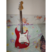Guitarra Electrica Squier Start By Fender Rojo Blanco