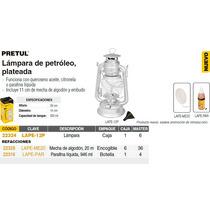 Lampara De Petroleo De 28 Cm Color Plata