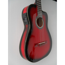 Guitarra Rockera Electroacustica Garantizada De Por Vida