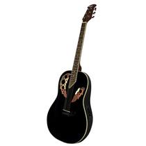 Guitarra Electroacustica Tipo Ovation Marca Rmc Zurda Color