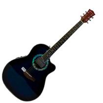 Guitarra Electroacústica Caraya Azúl Con Est. Sp721ceq Tbls