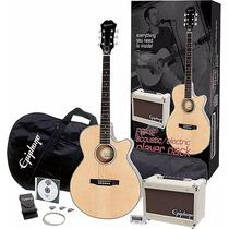 Paquete Guitarra Epiphone Player Pack Electroacustica Barata