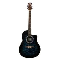 Guitarra Electroacústica Tipo Ovation Rmc Azul Sbarestico