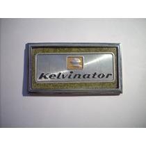 Antigua Lamina O Placa De Refrigerador Antiguo Kelvinator