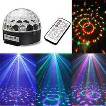 Luz Disco De Leds Con Reproductor Esfera Crystal Ball Magica