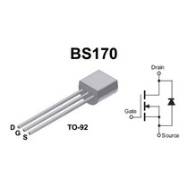 Transistor Mosfet Bs170 Canal-n 60v, 500ma To-92 Nuevo.