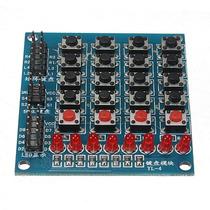 8 Led 4x4 Push Buttons Matrix Teclado Arduino