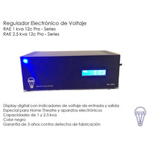Regulador De Voltaje 1 Kva Con Display Digital