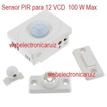 Sensor De Moviemnto Pir Para 12 Vcd Sensor Infrarojo 12v