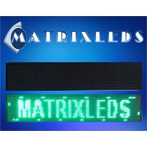 Anuncio Display Led Luminoso P/negocio 68x20cm Color Verde