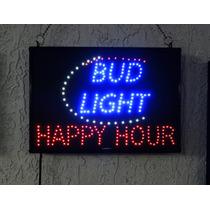 Anuncio Led Coleccionable Bud Light/ Happy Hour