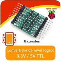 Convertidor De Nivel Lógico 3.3v 5v Ttl 8 Canales Arduino,