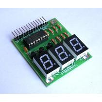 3 Pzs Módulo Display De 7 Segmentos Leds Rojo Con 3 Dígitos