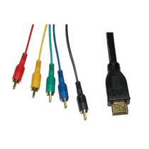 Cable Adaptador Hdmi A 5 Rca, Audio Y Video De 1.5 Metros.