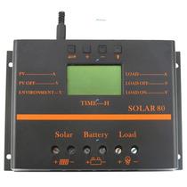 Regulador/controlador Solar De 60 Amperes, 12 -24 Voltios