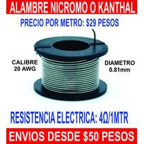 Alambre Nicromo Kanthal Diametro 0.81mm Calibre 20 Awg