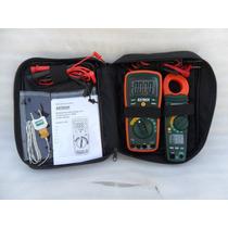 Kit Multimetro + Amperimetro Extech 430 Y Ma200 Estuch Fluk