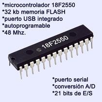4 Pzs Microcontrolador Pic 18f2550 I/sp 48 Mhz + Componentes