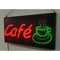 Anuncio De Led Cafe Con Taza Humeante